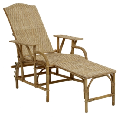 Chaise longue rotin grand m re for Chaises longues de plage