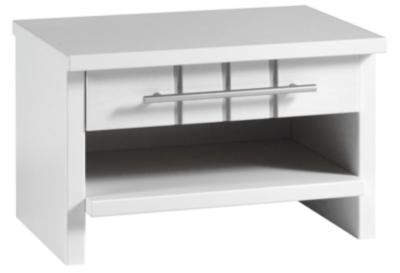Chevet 1 niche 1 tiroir Mareva blanc