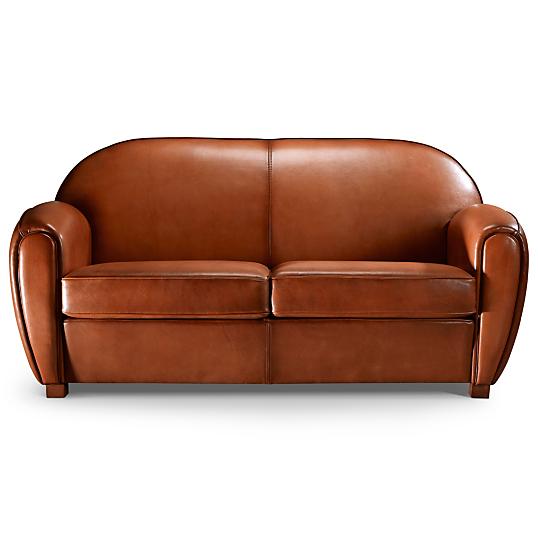 canap convertible cuir mouton cleyborne. Black Bedroom Furniture Sets. Home Design Ideas