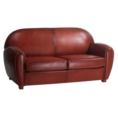 Canapé cuir de mouton Cleyborne