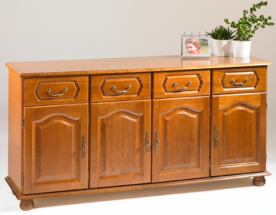 buffet 4 portes 4 tiroirs cluzel. Black Bedroom Furniture Sets. Home Design Ideas