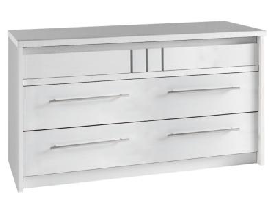 Commode 3 tiroirs Mareva blanc