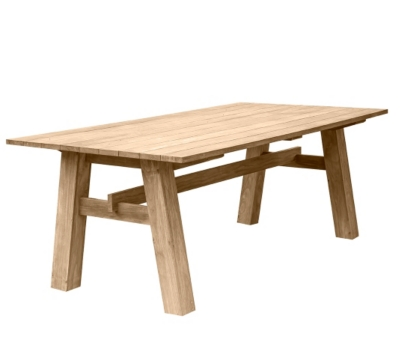 Table en teck Coulon MEDICIS
