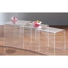 Tables gigognes Cristaline en Altuglas