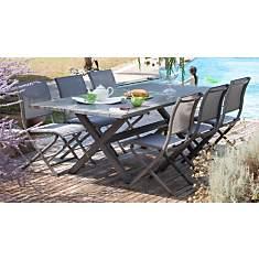 Table Crossway 240 100% aluminium  OCEO