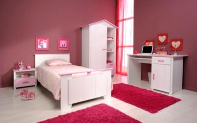 Lit Candice rose 90 x 190 cm