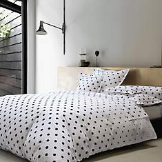 Taie percale Charlotte BLANC DES VOSGES,...