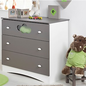 Commode 3 tiroirs Sybelle, taupe