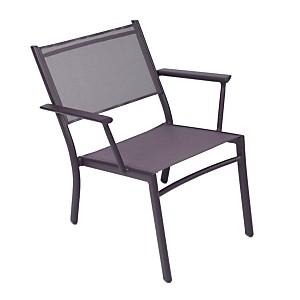 Lot de 2 fauteuils bas empilables FERMOB  COSTA, coloris au choix