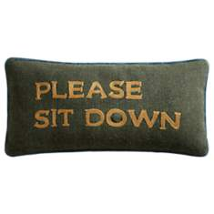 Coussin Please Sit Down LOUNGE FABRICS