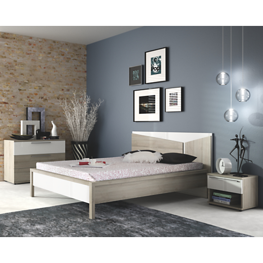 Chambre compl te delphy for Lit et commode adulte