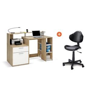 Ensemble bureau Dixon avec chaise Doria