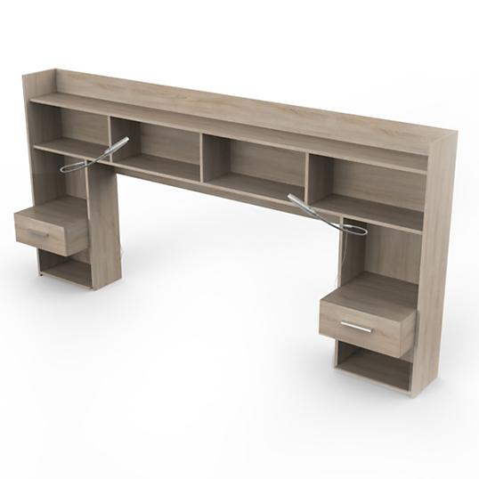environnement de lit dompierre ch ne cla ir. Black Bedroom Furniture Sets. Home Design Ideas