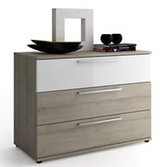 Commode 3 tiroirs Delphy blanc