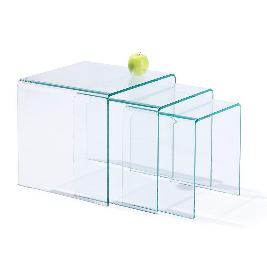 Tables gigognes Eco en verre