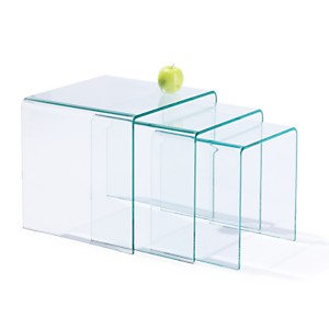 Tables gigognes Eco en verre