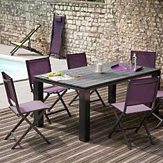 Table aluminium Eléna 180 x 100 cm