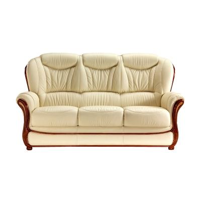 Canapé cuir avec boiserie Eugénie