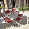 Lot de 2 chaises pliantes OCEO Elégance,  aluminium/toile textilène