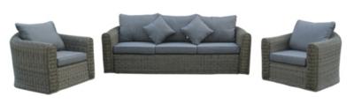Canapé Luxe Places Et Deux Fauteuils Avec Coussins MEDICIS - Canape et deux fauteuils