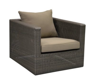 Fauteuil Meadow coloris ice avec coussin  taupe OCEO