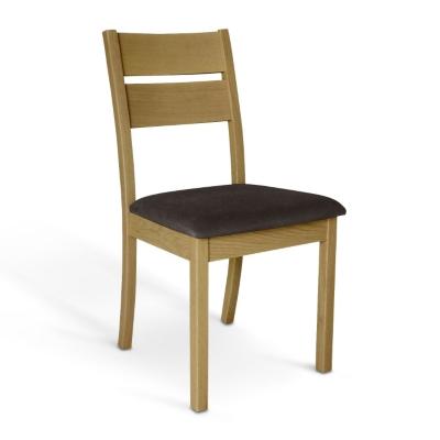 Lot de 2 chaises chêne naturel F...