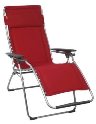 fauteuil relax lafuma futura clipp matelass coloris cherry. Black Bedroom Furniture Sets. Home Design Ideas