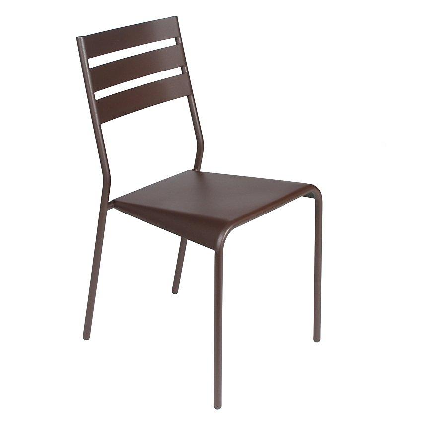 Lot de 2 chaises empilables FERMOB  FACTO, coloris au choix