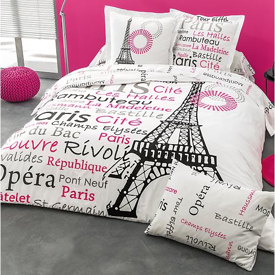 housse de couette french paris. Black Bedroom Furniture Sets. Home Design Ideas