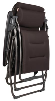fauteuil relax lafuma futura clipp air comfort matelass coloris marron. Black Bedroom Furniture Sets. Home Design Ideas