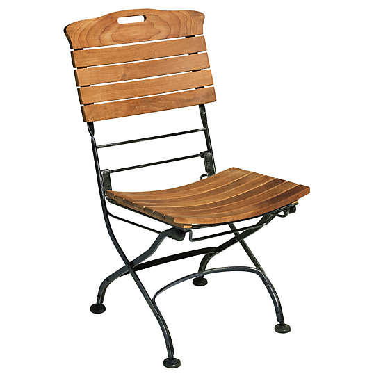 le lot de 2 chaises pliantes alam da teck fer forg. Black Bedroom Furniture Sets. Home Design Ideas