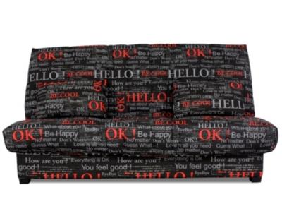 Banquette clic-clac Hello, matelas  Dunlopillo 13 cm