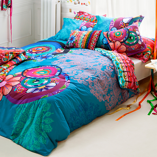 parure de lit percale handflower desigual. Black Bedroom Furniture Sets. Home Design Ideas