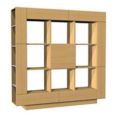 Bibliothèque 1 porte, 2 tiroirs ...