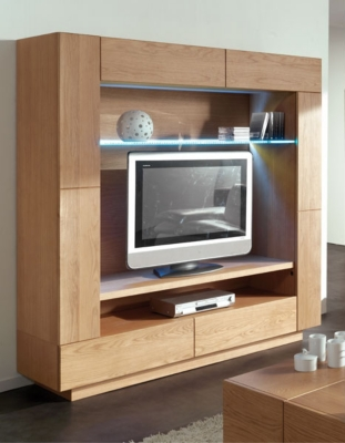 mural tv 3 portes 2 tiroirs ilyane. Black Bedroom Furniture Sets. Home Design Ideas