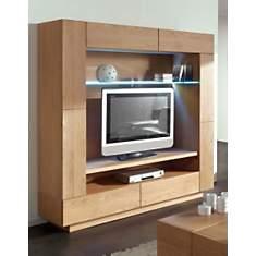 Mural TV 3 portes, 2 tiroirs Ilyane