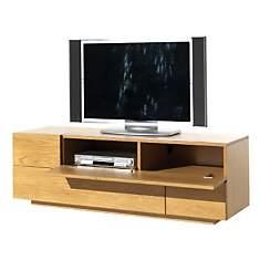 Meuble TV 3 tiroirs, 1 abattant Ilyane