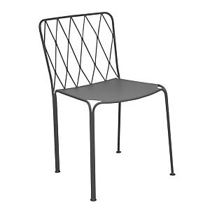 Lot de 2 chaises FERMOB Kintbury, tout  acier, coloris au choix