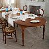 Table ronde à volets 115 Léonnie,  merisier