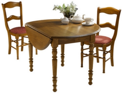 Table ronde à volets Ø90 Léonnie,  tilleul