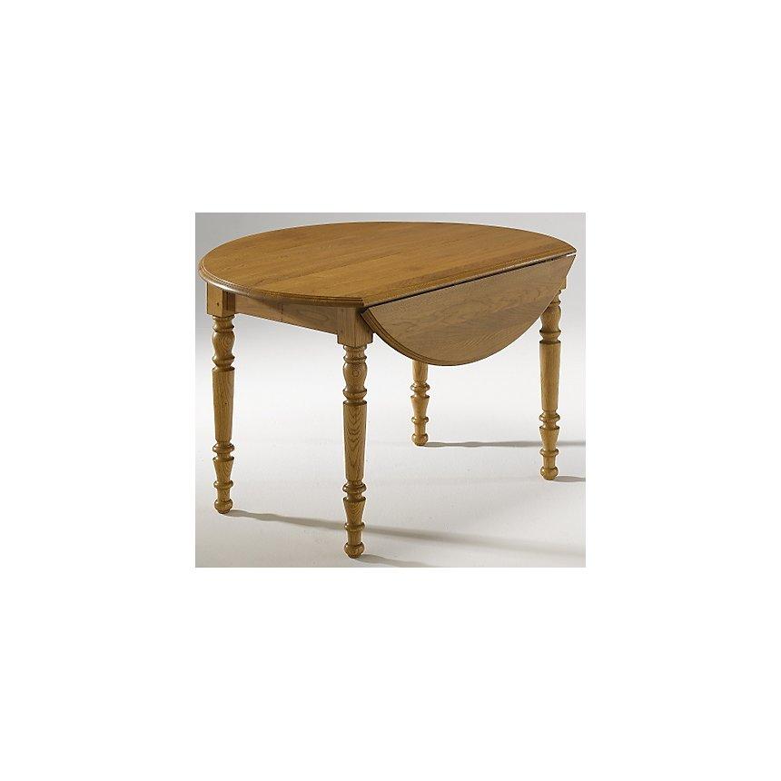 Table ronde à volets Ø 115 Léonnie,  chêne