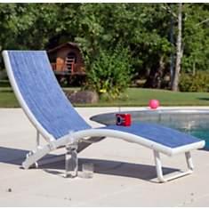 Lot 2 bains de soleil empilables Linéa