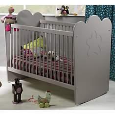 Lit bébé Silène gris àbarreaux