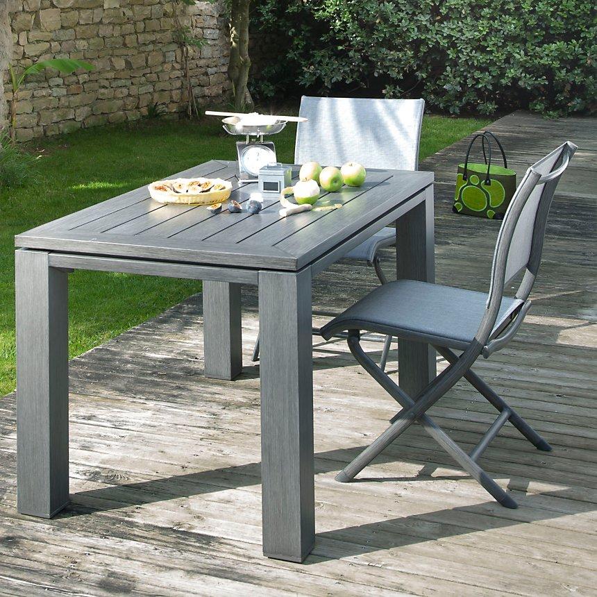 Table aluminium OCEO Latino 126 x 78 cm