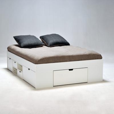 lit rangement william 140 x 190 cm. Black Bedroom Furniture Sets. Home Design Ideas