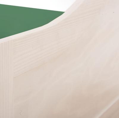 Lit banquette Inès 90 x 190 cm blanchi