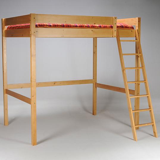 Lit mezzanine 140 x 200 cm miel - Lit mezzanine en 140 ...