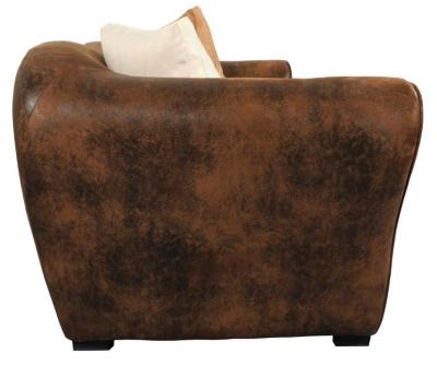 Canapé microfibre aspect cuir Macassar