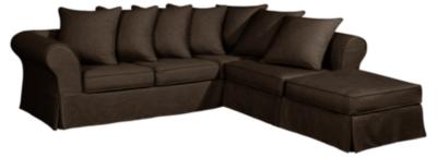 Canapé d'angle Maeva coton lin