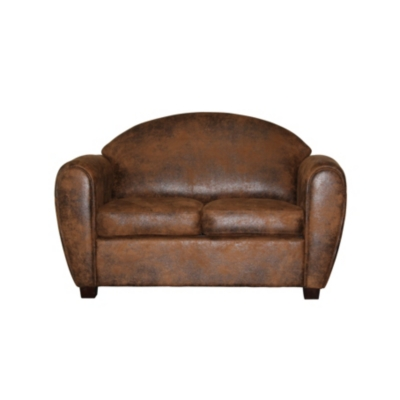 Canapé microfibre aspect cuir Malcolm
